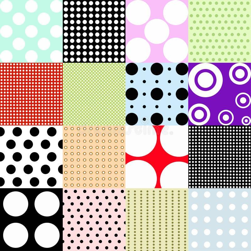 polka för prickmodell vektor illustrationer