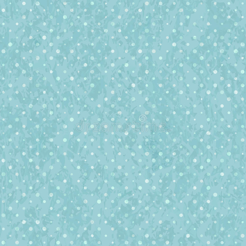 Polka sans couture bleue Dot Old Pattern illustration de vecteur
