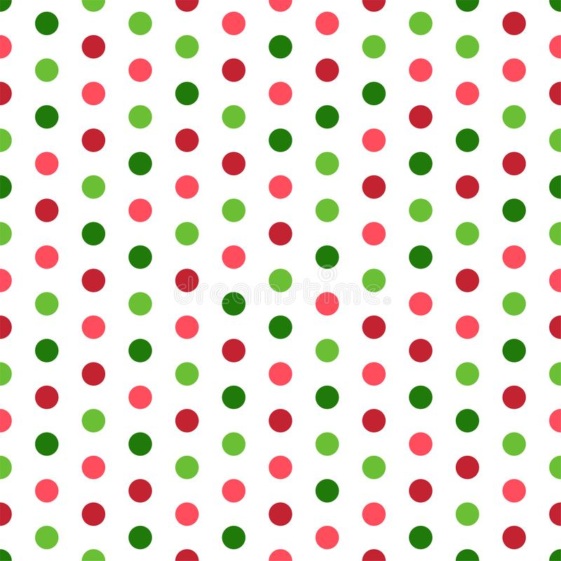 Polka variopinta Dots Seamless Pattern royalty illustrazione gratis