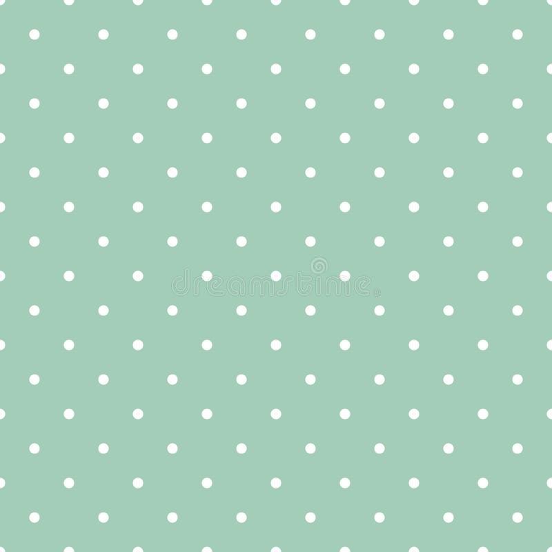 Polka verte en bon état Dots Seamless Pattern illustration stock