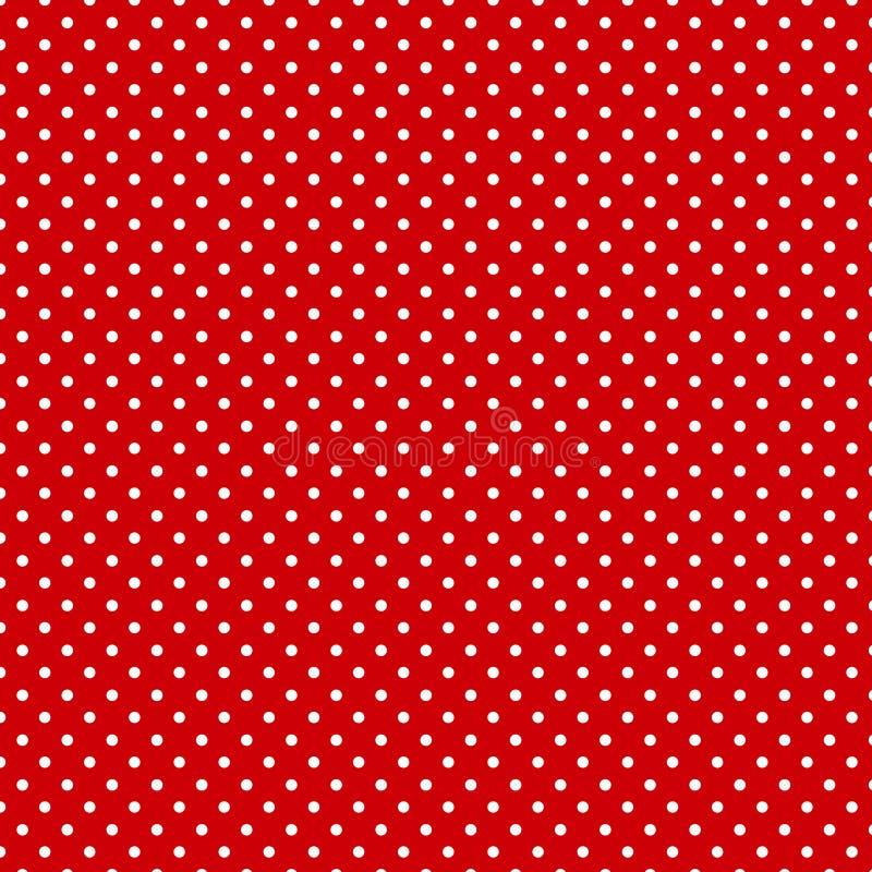 polkadots mała czerwone tło ilustracji