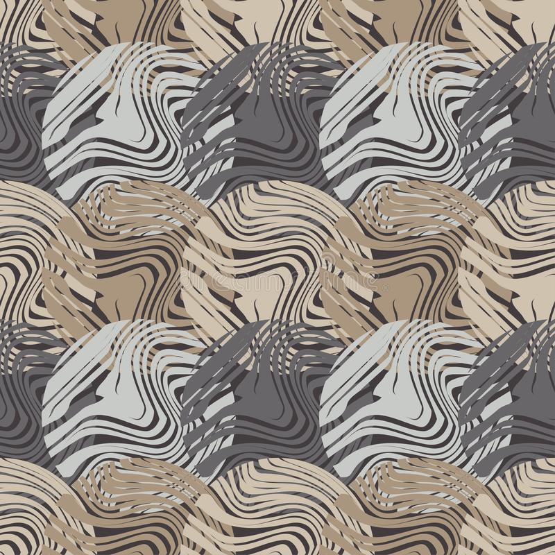 Polki kropki bezszwowy wzór Drewniana tekstura geometryczny tło Kolorowe piłki Skrobaniny tekstura ilustracji