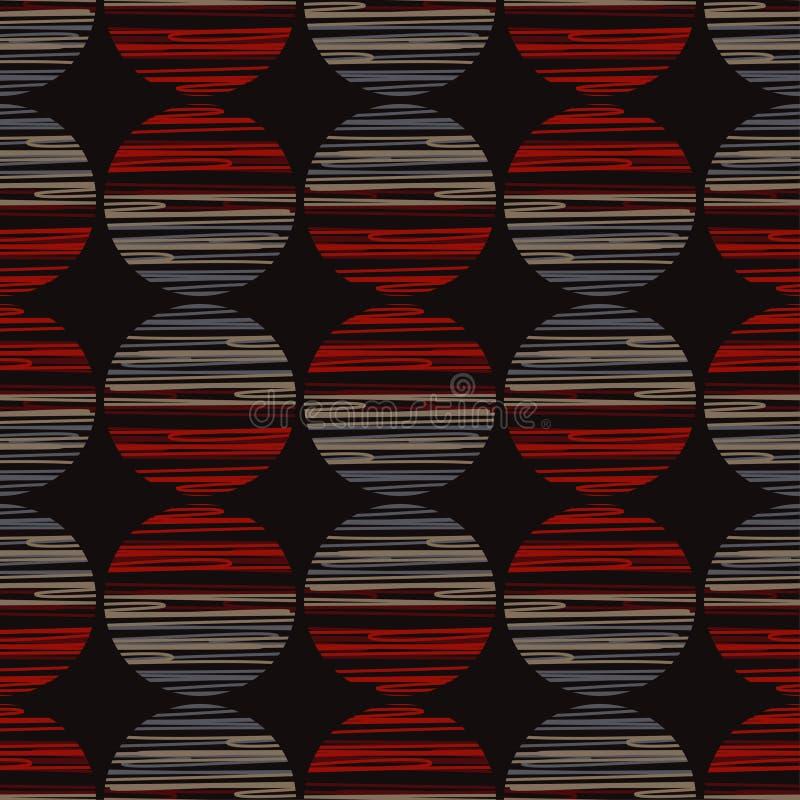 Polki kropki bezszwowy wzór Kolorowe piłki Tekstura paski ilustracji