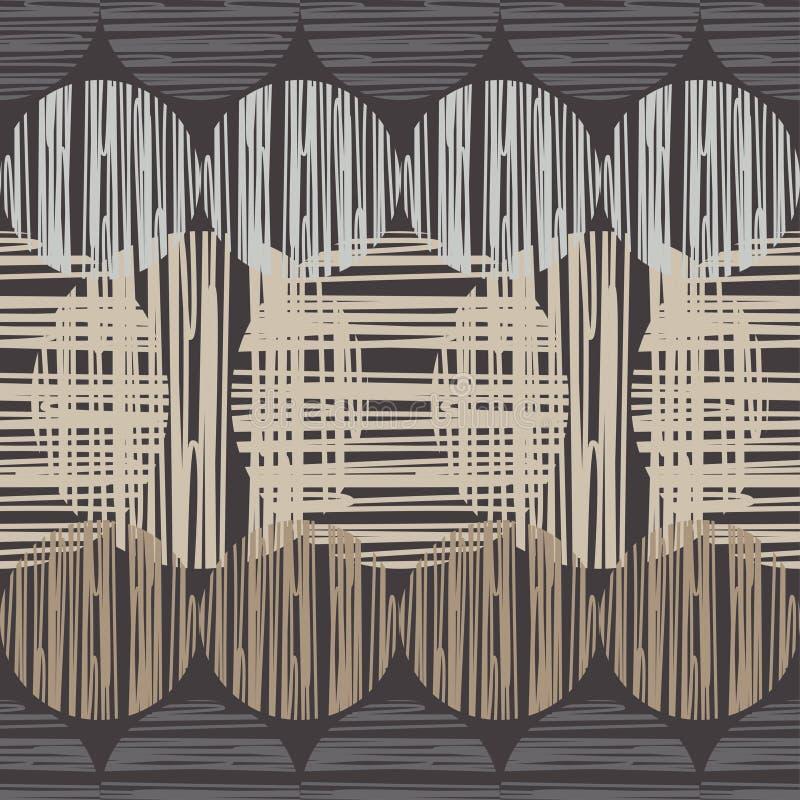 Polki kropki bezszwowy wzór Kolorowe piłki Tekstura paski royalty ilustracja