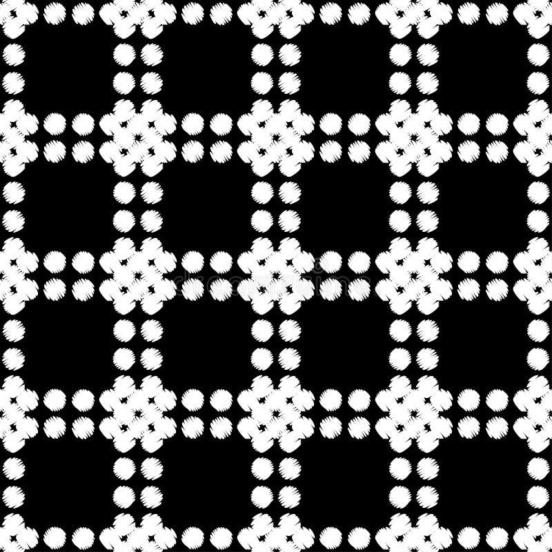 Polki kropki bezszwowy wzór Ręki kluć się brushwork halftones geometryczny tło Skrobaniny tekstura ilustracji