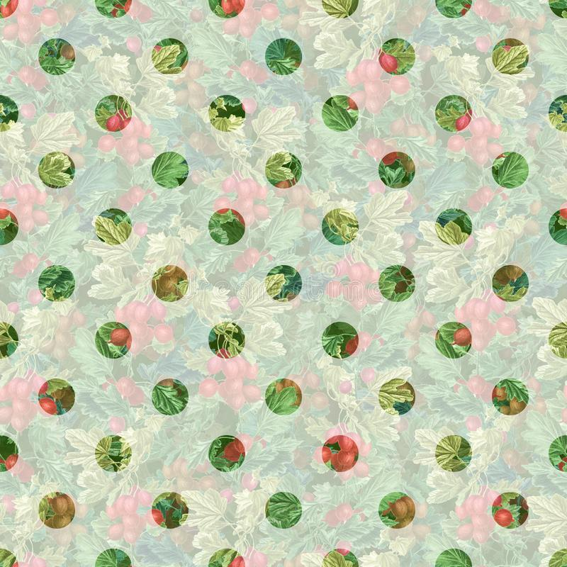 Polki kropki bezszwowy wz?r Bezszwowa rośliny tekstura ilustracji