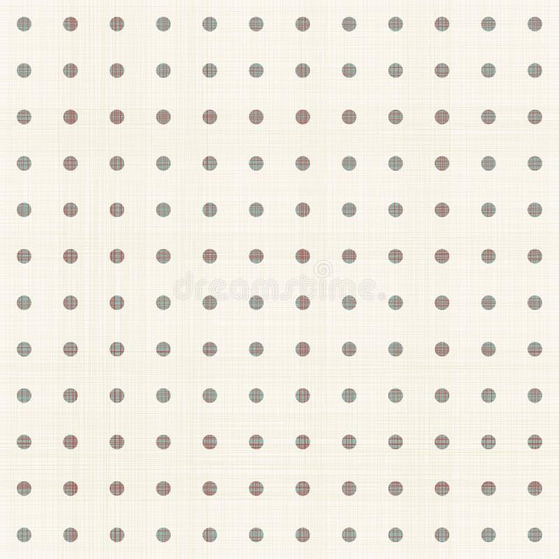 Polki kropki retro bezszwowy wzór royalty ilustracja
