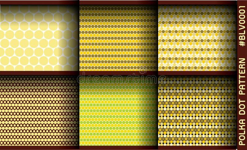 polki kropki wzór obraz stock