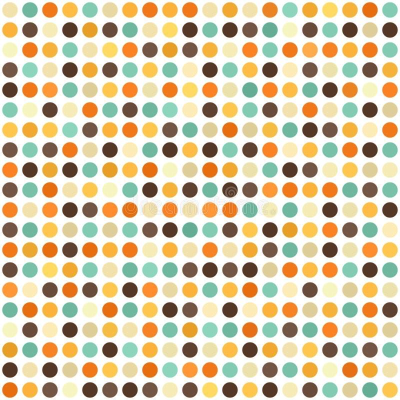 polki kropki wzór Bezszwowy wektorowy retro tło ilustracja wektor