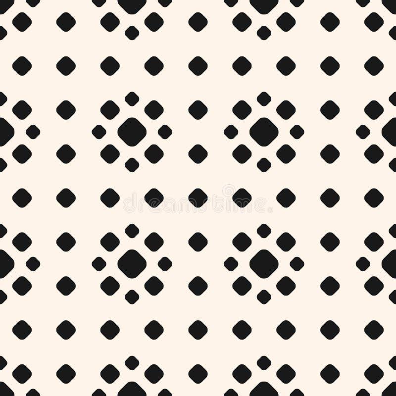 Polki kropki wzór z okręgami, kwieciści kształty ilustracja wektor