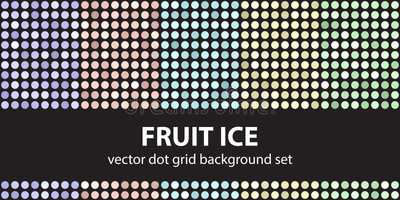 Polki kropki wzoru owoc ustalony lód Wektorowy bezszwowy geometryczny kropka b royalty ilustracja