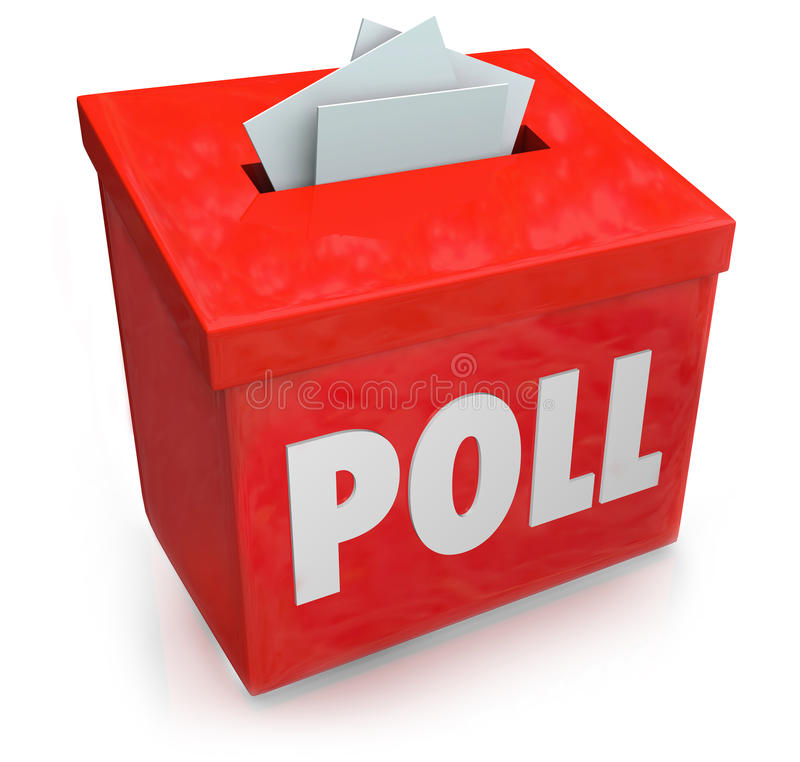 Free Poll Survey Submission Entry Box Answer Questions Vote Royalty Free Stock Photography - 41225567