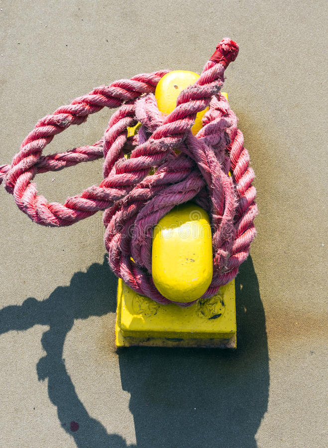 Download Pollard with rope stock photo. Image of equipment, industry - 42634664
