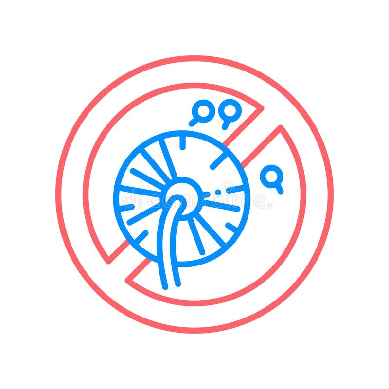 Pollen allergy line color icon. Seasonal disease. Sign for web page, mobile app, button, logo. Vector isolated element. Editable stroke vector illustration