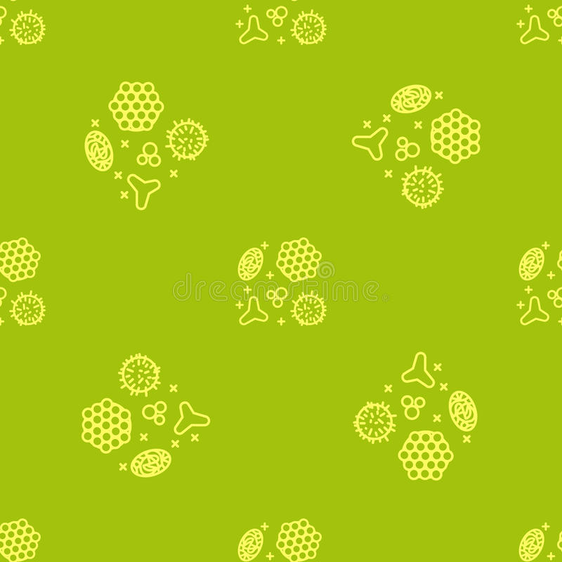Pollen beekeeping. Seamless pattern in a linear style. Pollen, a product of bees and beekeeping. A useful organic amino acid. Seamless pattern in a linear style stock illustration