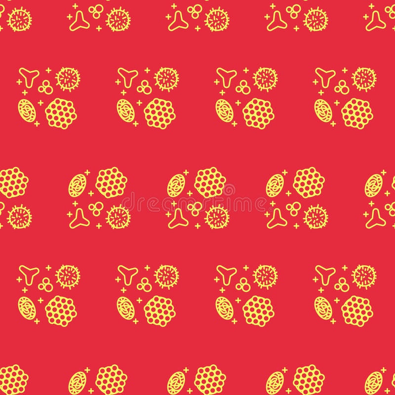 Pollen beekeeping. Seamless pattern in a linear style. Pollen, a product of bees and beekeeping. A useful organic amino acid. Seamless pattern in a linear style vector illustration
