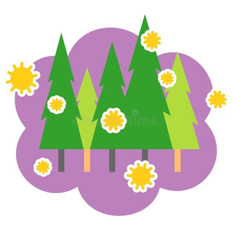 Pollen de cèdre illustration de vecteur