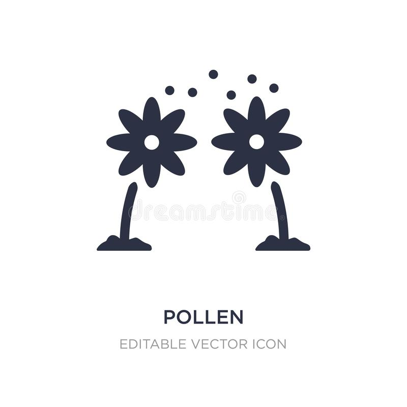 pollen icon on white background. Simple element illustration from Nature concept stock illustration