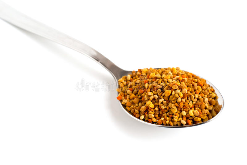 Pollen in the spoon stock photography