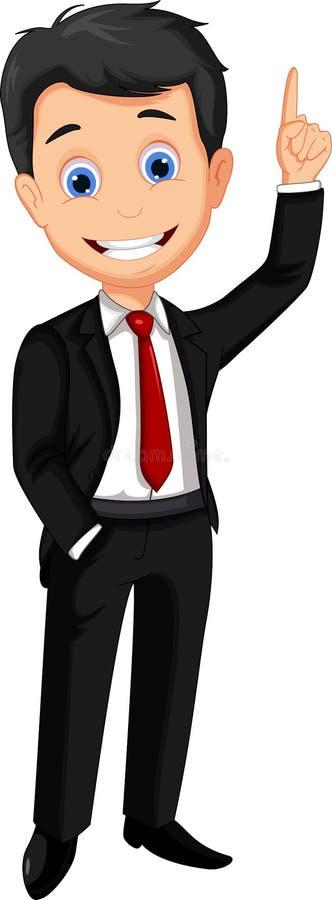 Pollice del fumetto dell'uomo di affari su illustrazione di stock