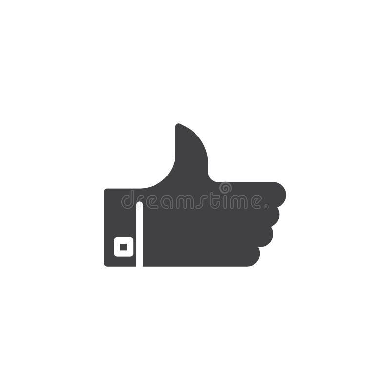 Pollice sull'icona di vettore illustrazione di stock