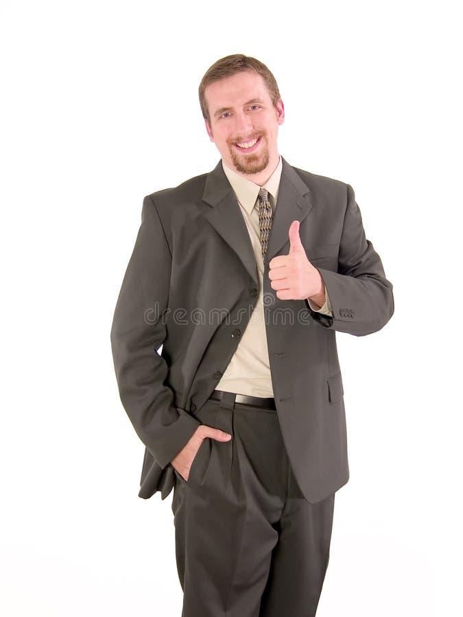 Pollici dell'uomo d'affari in su immagini stock libere da diritti