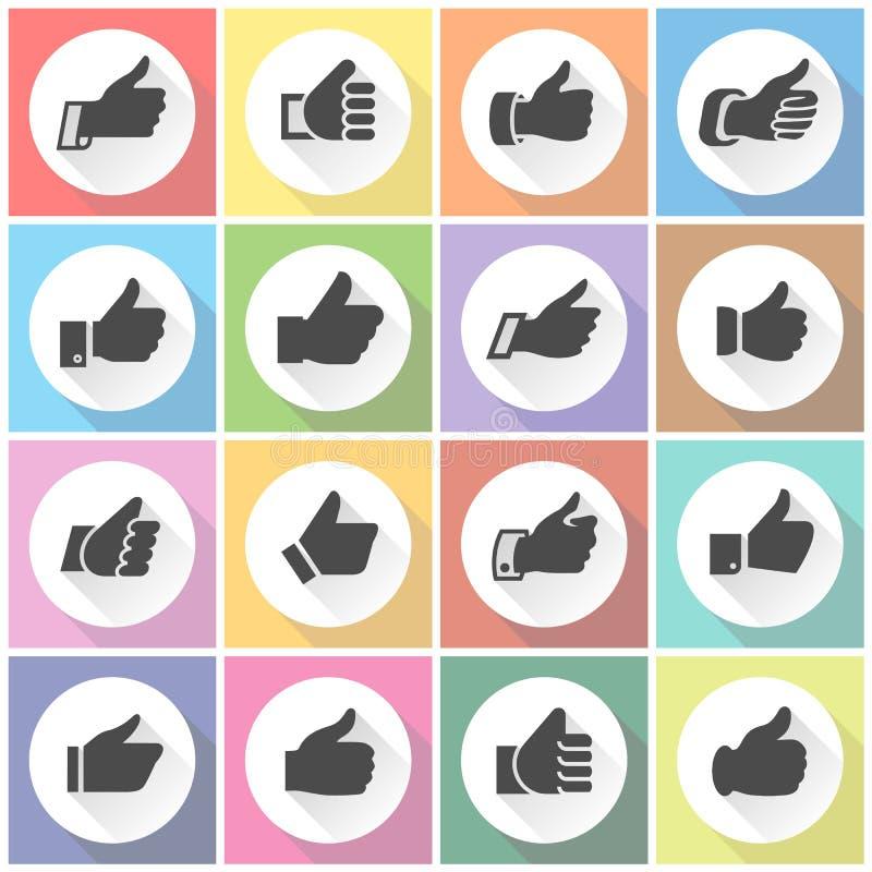 Pollici su, bottoni rotondi bianchi royalty illustrazione gratis