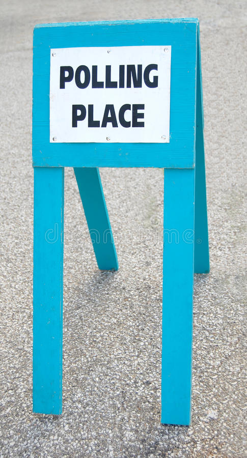 Polling Place Sign Royalty Free Stock Photo