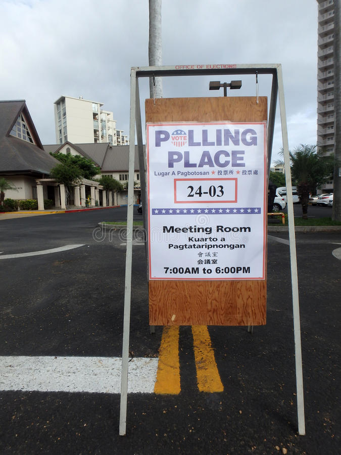 Polling Place Sign stock photo