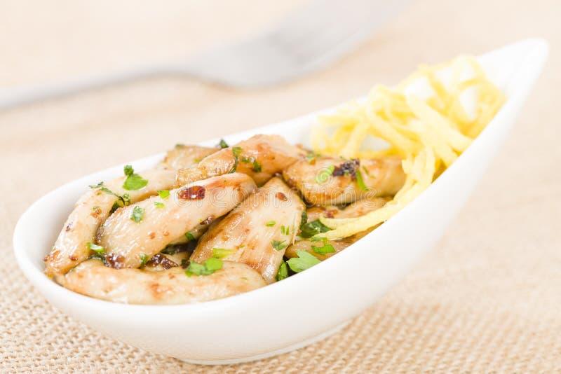 Download Pollo al limon con ajo stock image. Image of pintxos - 37743549