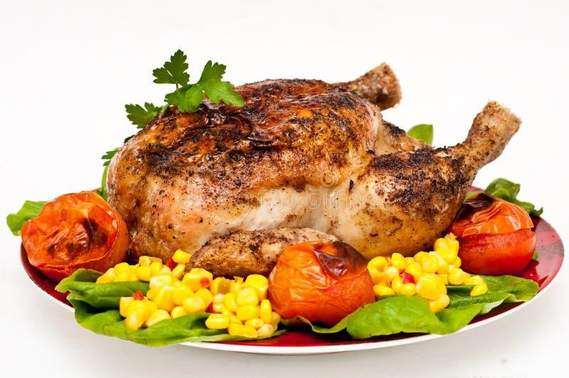 Pollo arrostito fotografia stock libera da diritti