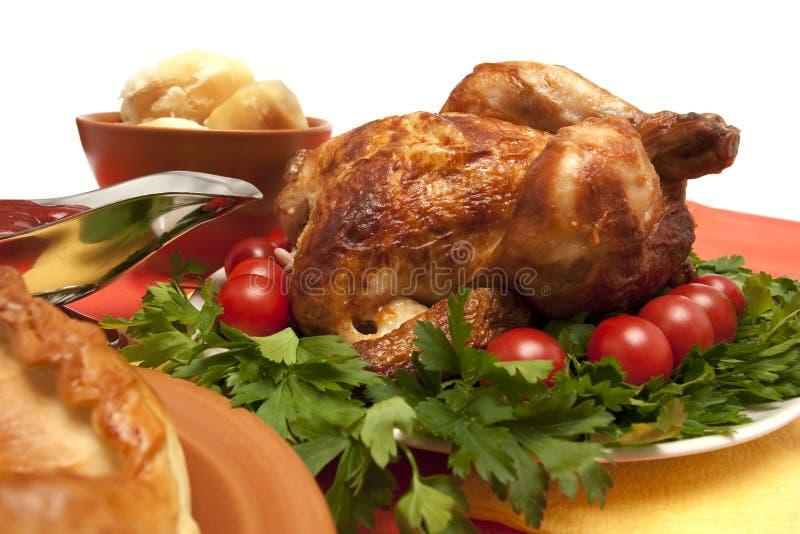 Pollo arrostito immagini stock