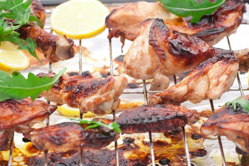Pollo arrostito forno fotografia stock