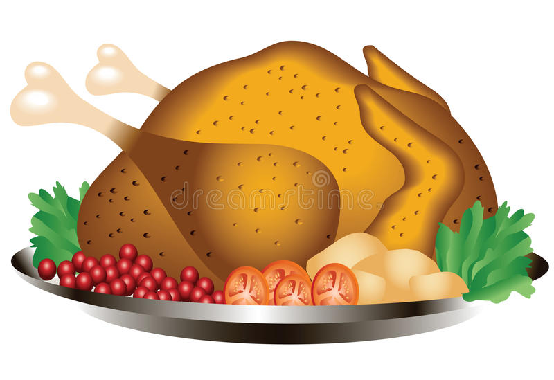 Pollo arrosto illustrazione di stock