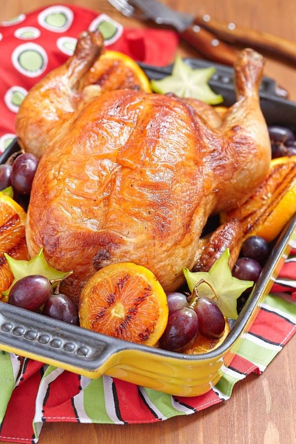 Download Pollo asado con las frutas imagen de archivo. Imagen de jugoso - 44857803