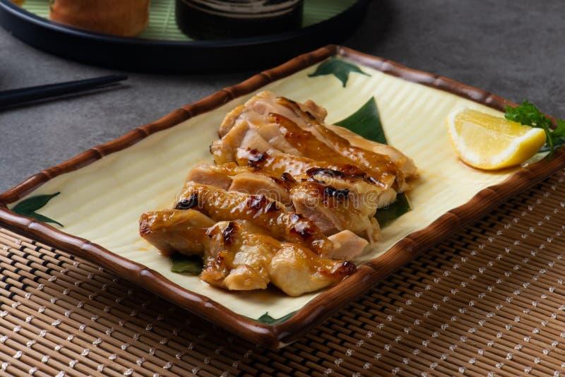Pollo asado a la parrilla del teriyaki fotografía de archivo
