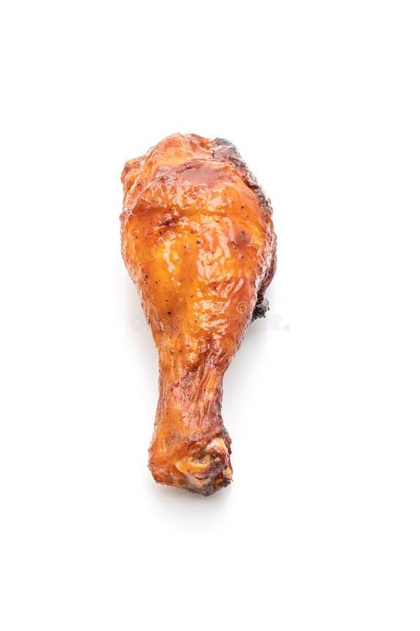 pollo asado a la parrilla y de la barbacoa foto de archivo libre de regalías