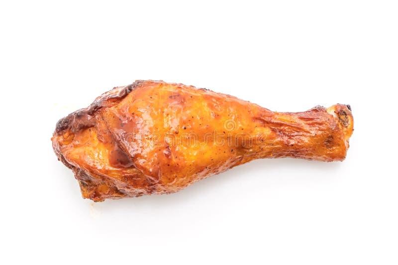 pollo asado a la parrilla y de la barbacoa imagen de archivo libre de regalías