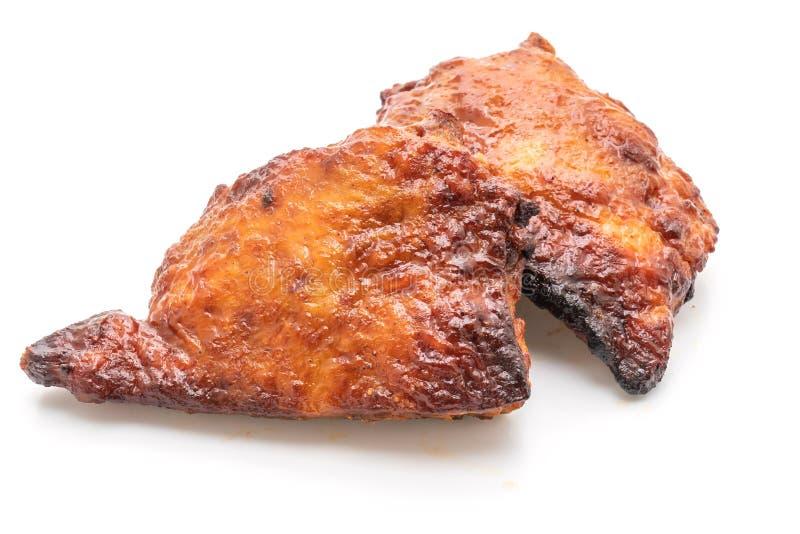 pollo asado a la parrilla y de la barbacoa imágenes de archivo libres de regalías