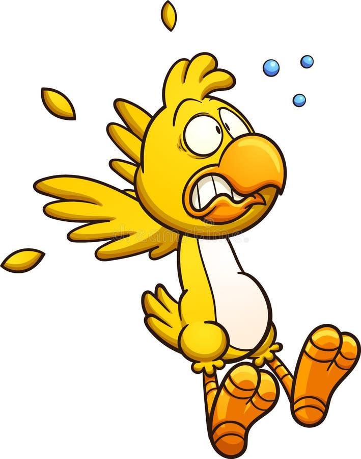 Pollo asustado ilustración del vector