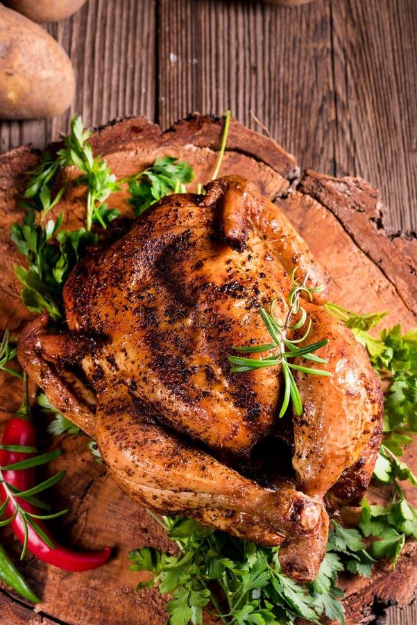 Pollo cocido al horno foto de archivo