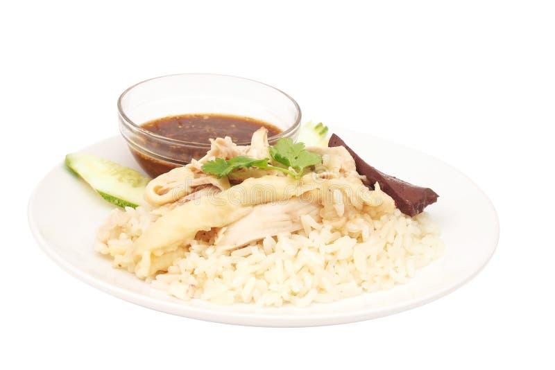Download Pollo Cortado Del Hainan-estilo Con Arroz Adobado Imagen de archivo - Imagen de blanco, bowl: 41915151