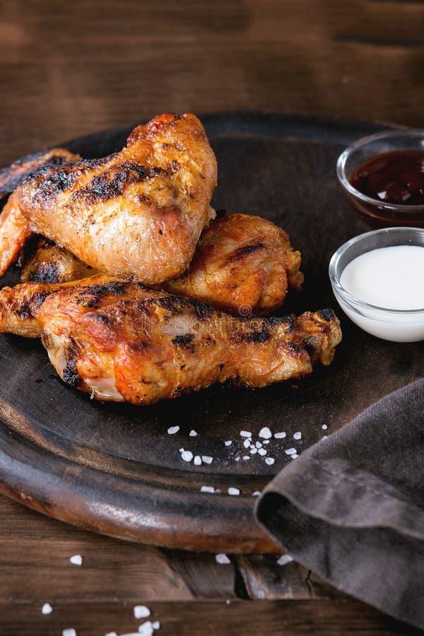 Pollo cotto del BBQ immagine stock libera da diritti