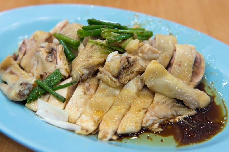 Pollo cotto a vapore della salsa di soia fotografie stock libere da diritti
