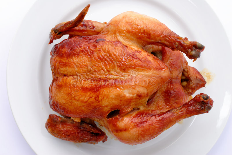 Pollo de carne asada curruscante imagen de archivo