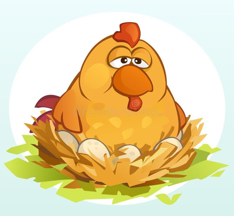 Pollo de la historieta libre illustration