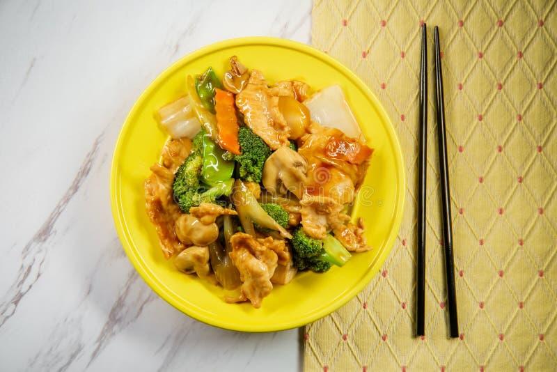 Pollo de Yu-Shiang con la salsa de ajo imagen de archivo