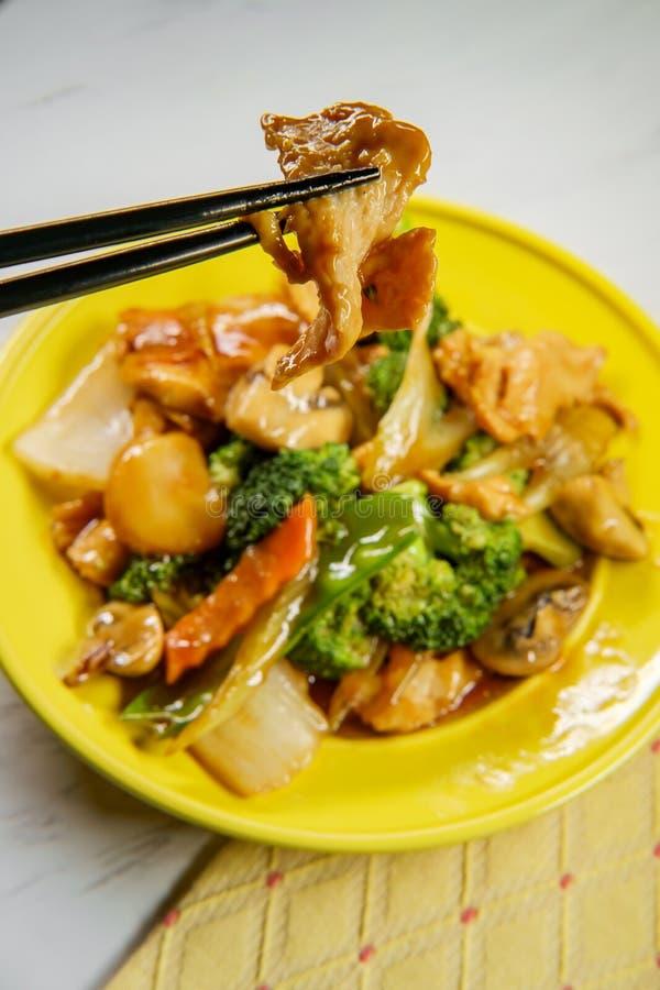 Pollo de Yu-Shiang con la salsa de ajo imágenes de archivo libres de regalías