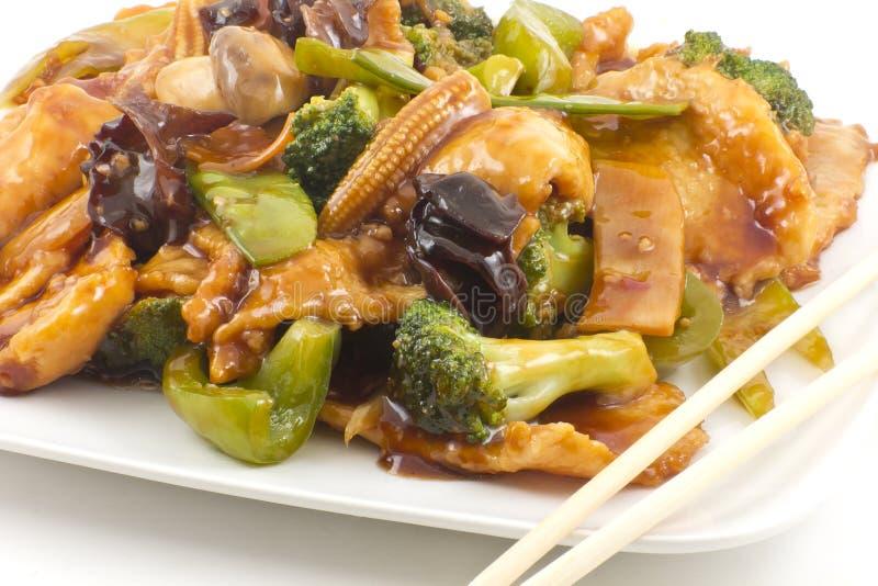 Pollo de Yu-Shiang con la salsa de ajo fotos de archivo