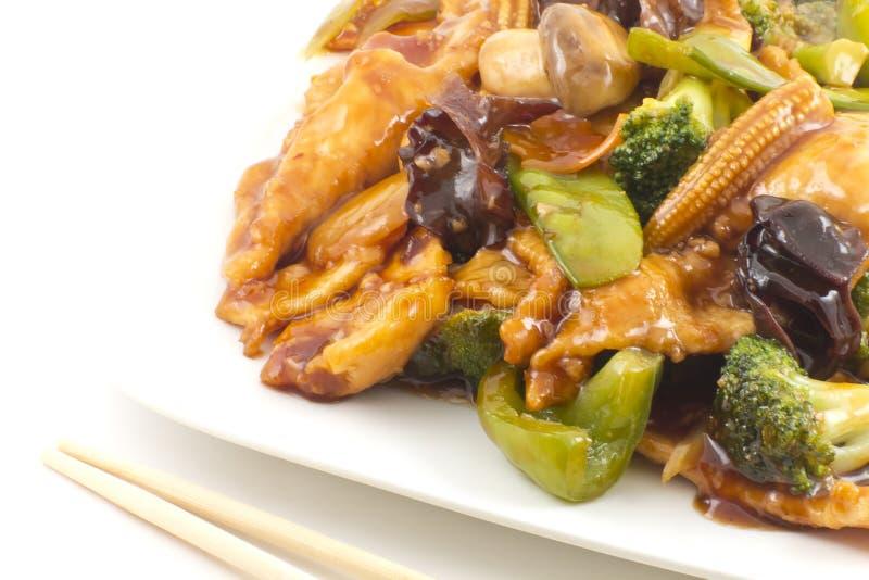 Pollo de Yu-Shiang con la salsa de ajo fotos de archivo libres de regalías